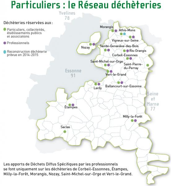 Decheteries carte reseau part 300